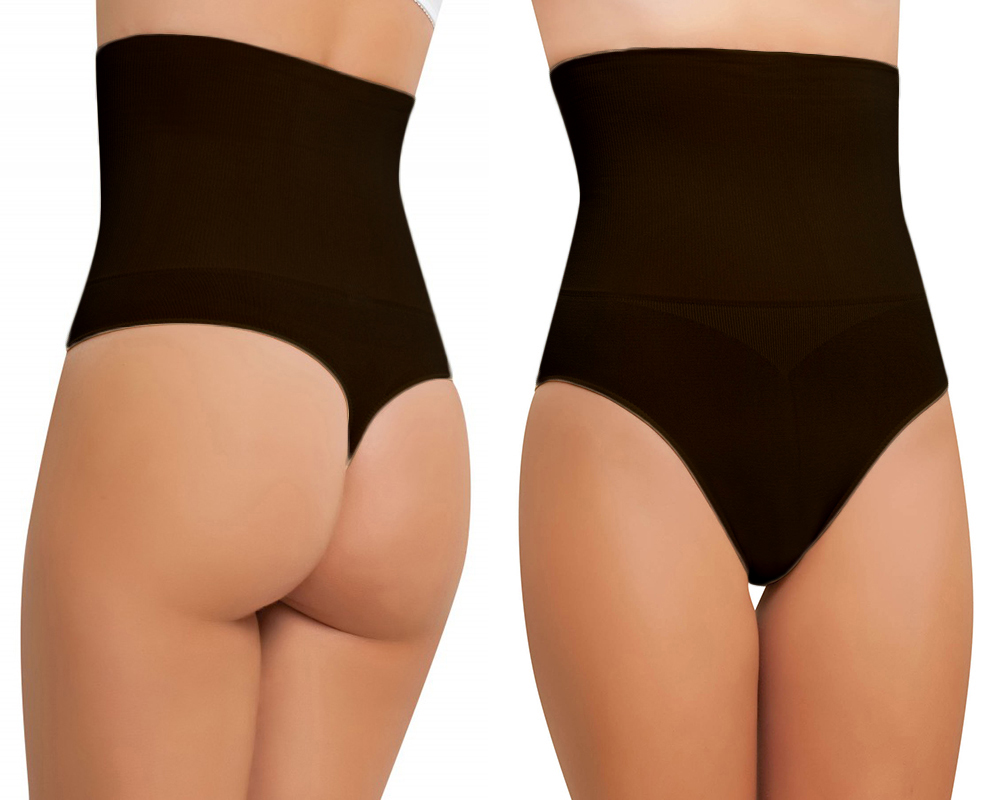 7e3397b54269 NBB Women's Seamless High Waist Tummy Control Thong Body Shaper Slimming  Shapewear