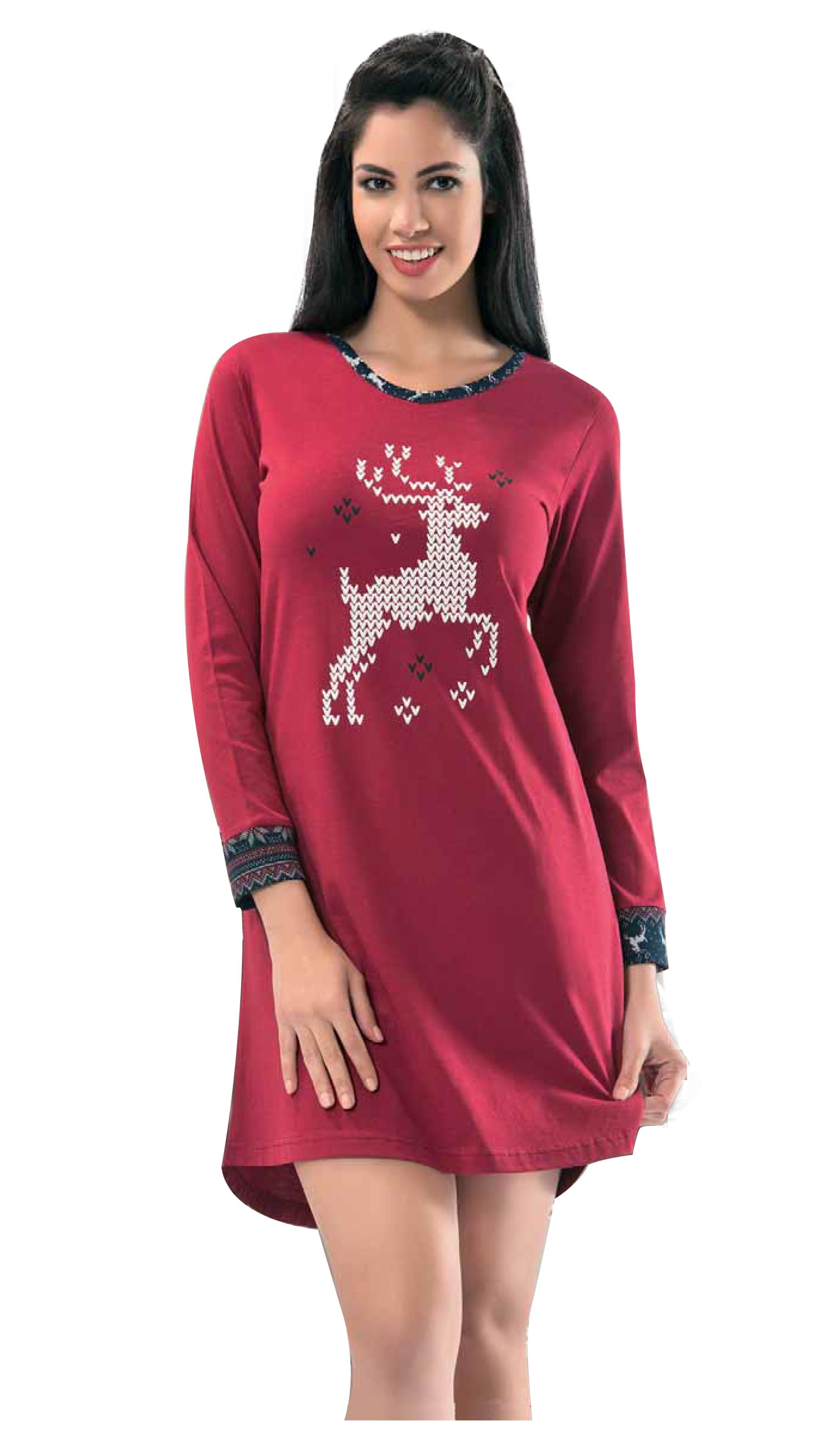 6badb7e1a5 NBB Lingerie Women s Cotton Christmas Adult Holiday Nightgown – NBB ...